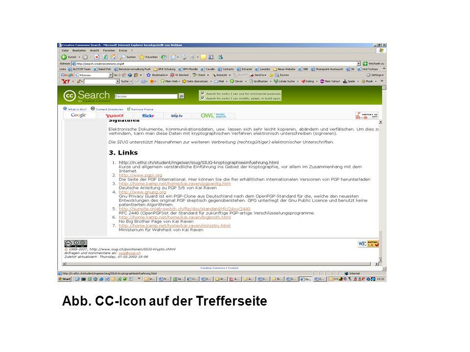Abb. CC-Icon auf der Trefferseite