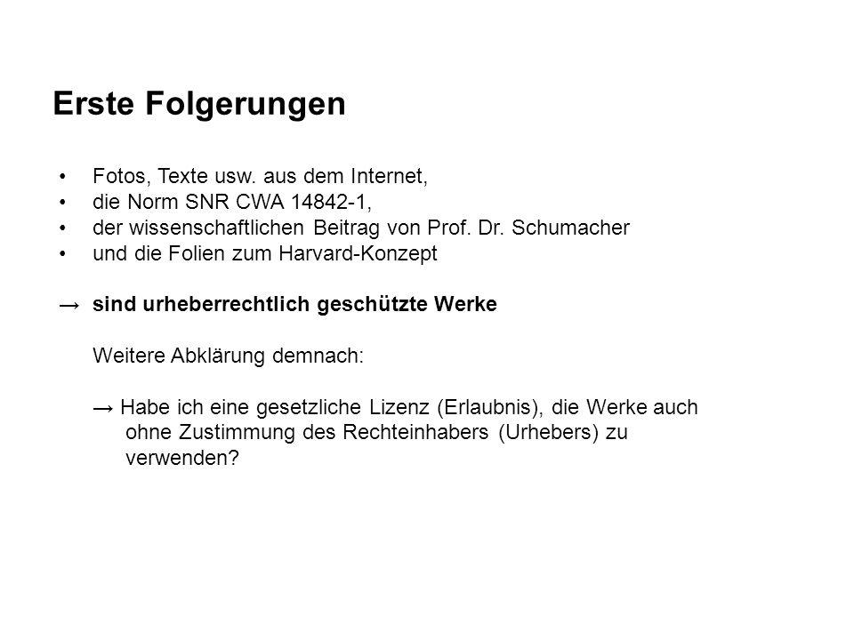 Erste Folgerungen Fotos, Texte usw. aus dem Internet, die Norm SNR CWA 14842-1, der wissenschaftlichen Beitrag von Prof. Dr. Schumacher und die Folien