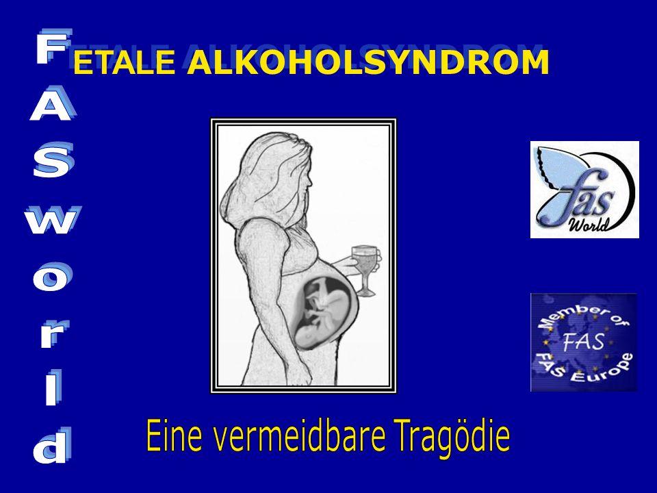 FAS/E ist eine Schädigung des Kindes, die durch Alkoholgenuss der Mutter während der Schwangerschaft entstanden ist.