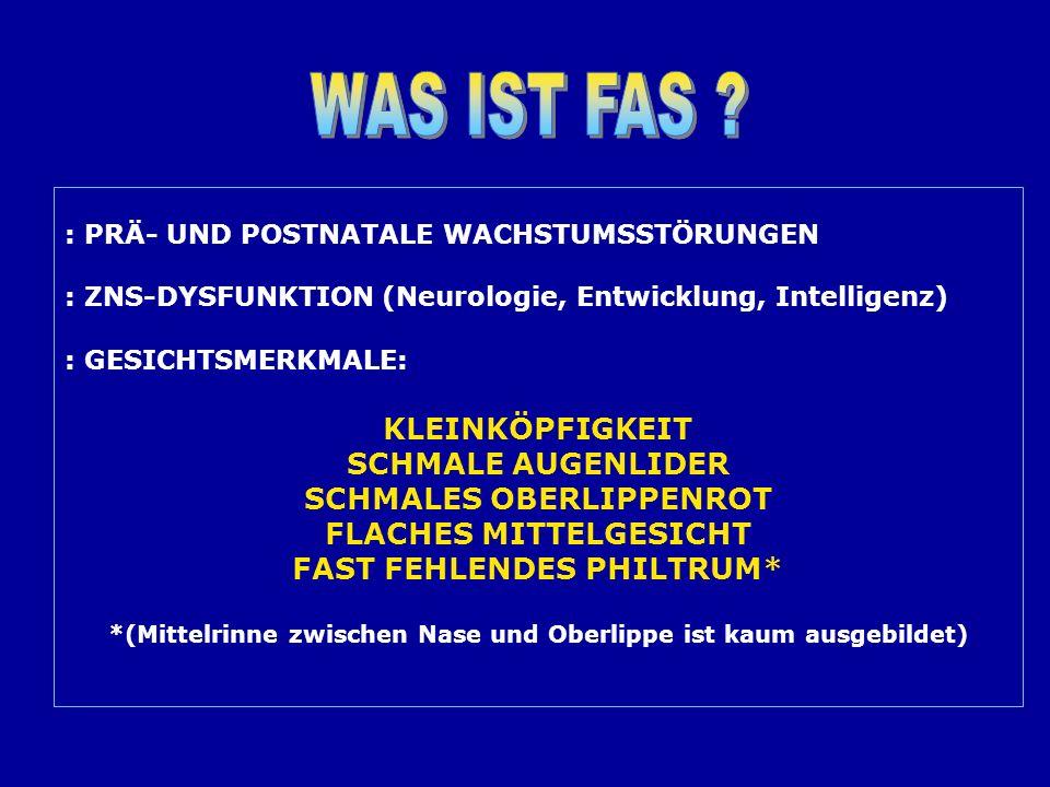 Kinder und Jugendliche mit FASD und AD(H)S Zeichen von AD(H)S: oHyperaktivität oAufmerksamkeitsstörungen oImpulsivität oErregbarkeit / Irritierbarkeit oEmotionale Störungen oDissoziales Verhalten oLernstörungen Folie von Annika Thomsen