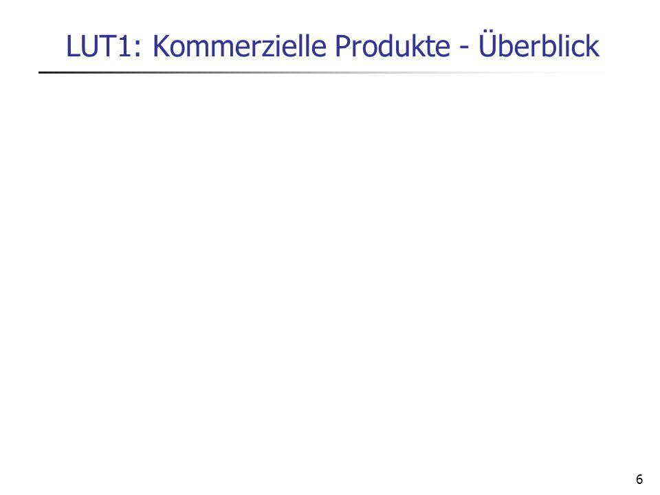 6 LUT1: Kommerzielle Produkte - Überblick