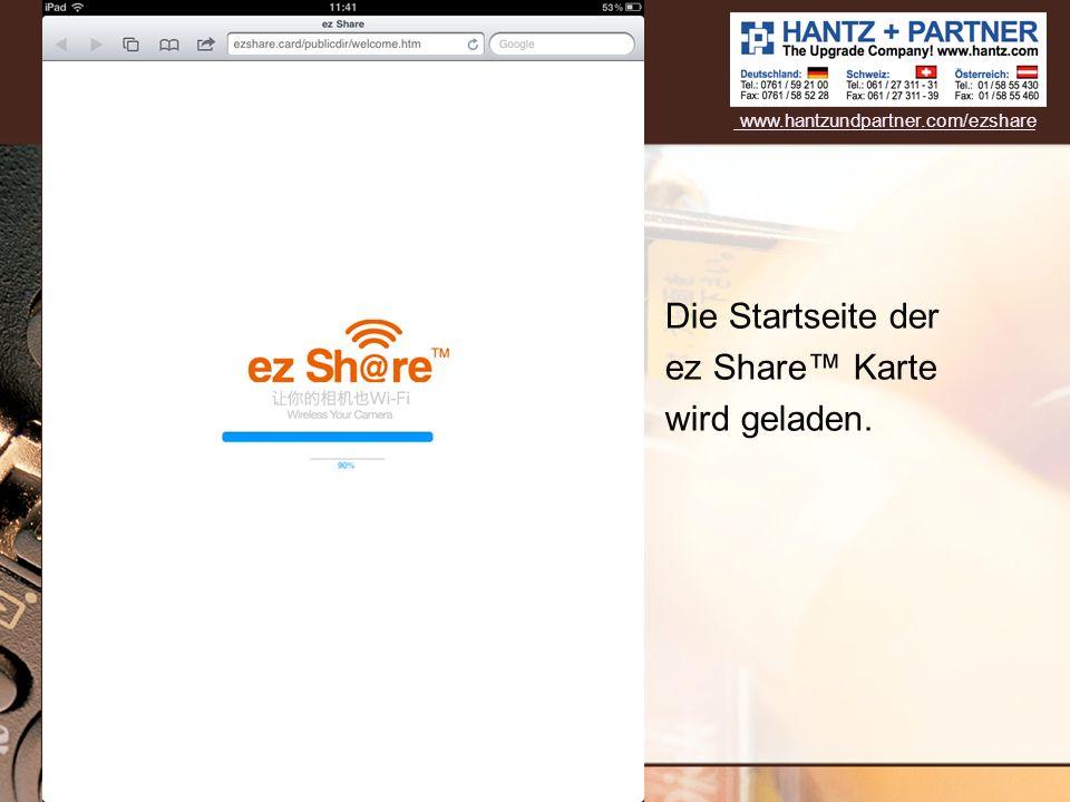 Die Startseite der ez Share Karte wird geladen. www.hantzundpartner.com/ezshare