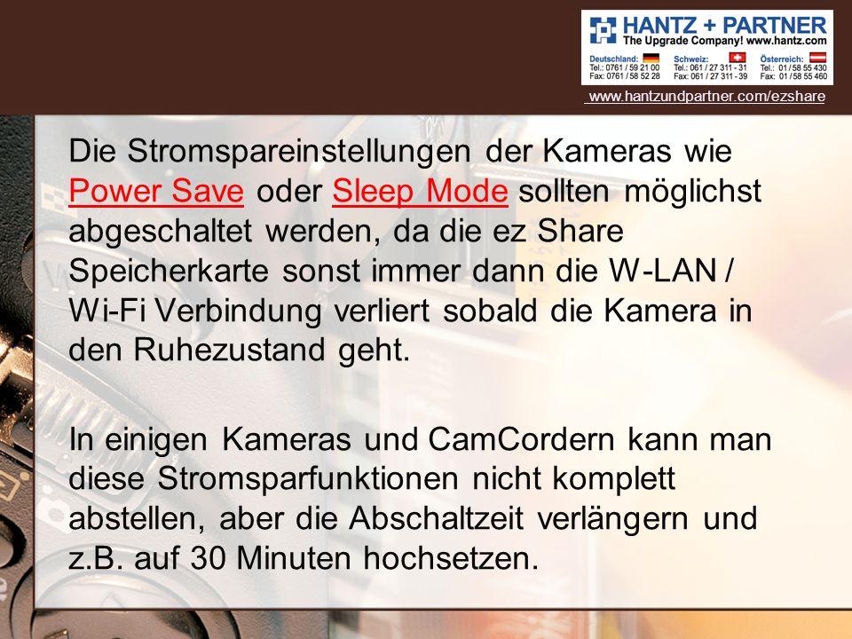 Machen Sie wie gewohnt ein paar Fotos und Videos mit Ihrer Kamera + ez Share www.hantzundpartner.com/ezshare