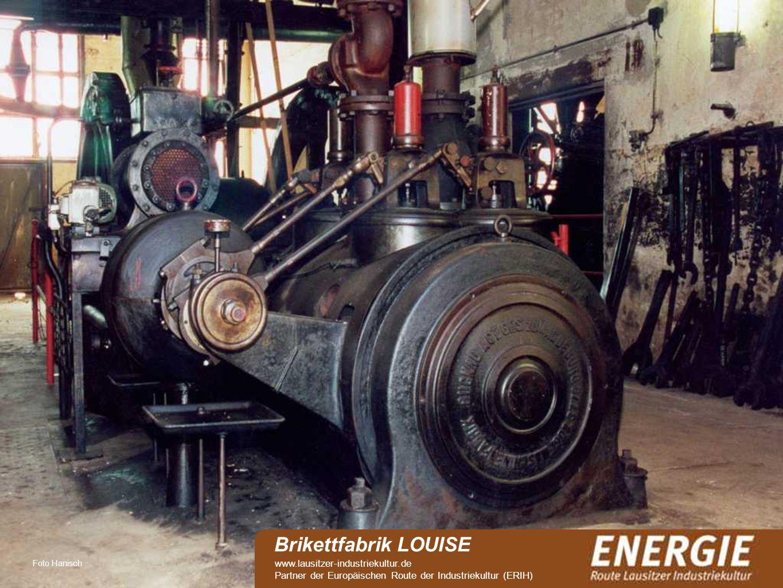 see Foto Hanisch Brikettfabrik LOUISE www.lausitzer-industriekultur.de Partner der Europäischen Route der Industriekultur (ERIH)
