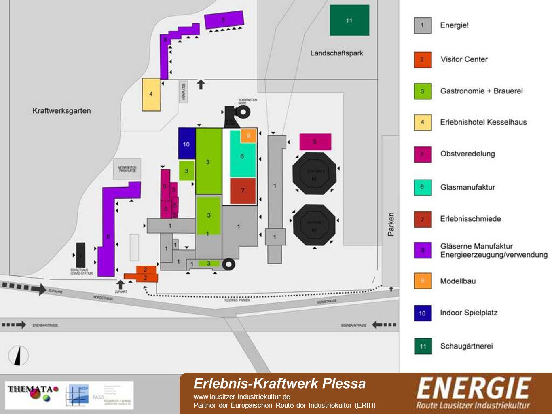 see Erlebnis-Kraftwerk Plessa www.lausitzer-industriekultur.de Partner der Europäischen Route der Industriekultur (ERIH)
