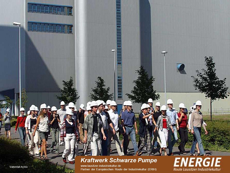 see Vattenfall Archiv Kraftwerk Schwarze Pumpe www.lausitzer-industriekultur.de Partner der Europäischen Route der Industriekultur (ERIH)