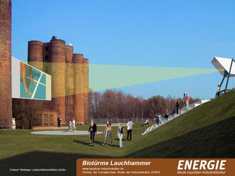 see Entwurf: Weidinger Landschaftsarchitekten, Berlin Biotürme Lauchhammer www.lausitzer-industriekultur.de Partner der Europäischen Route der Industr