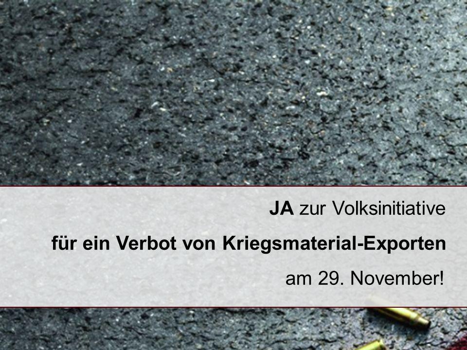 Übersicht 1.Wohin exportiert die Schweiz Kriegsmaterial.