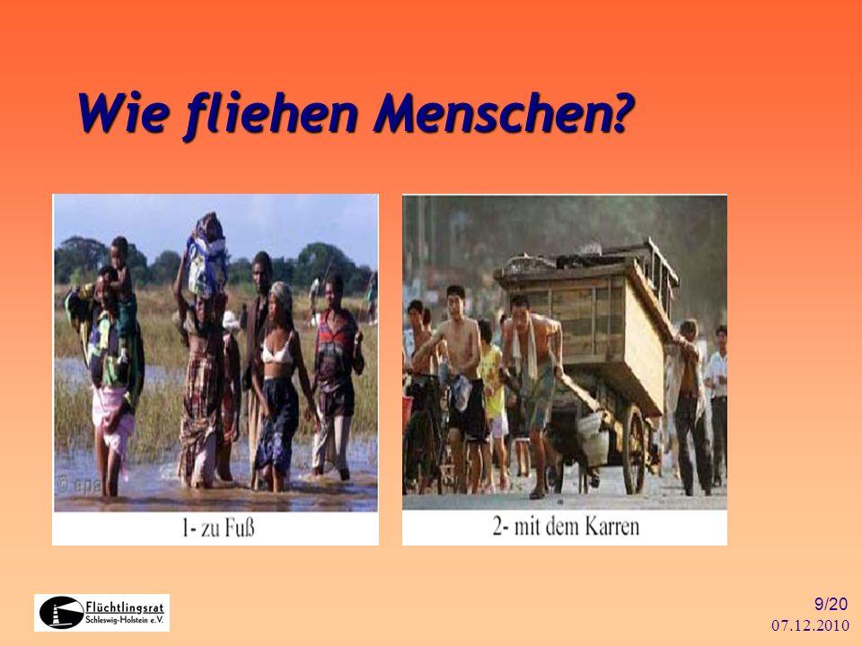 07.12.2010 20/20 Weitere Informationen Flüchtlingsrat Schleswig-Holstein e.V.