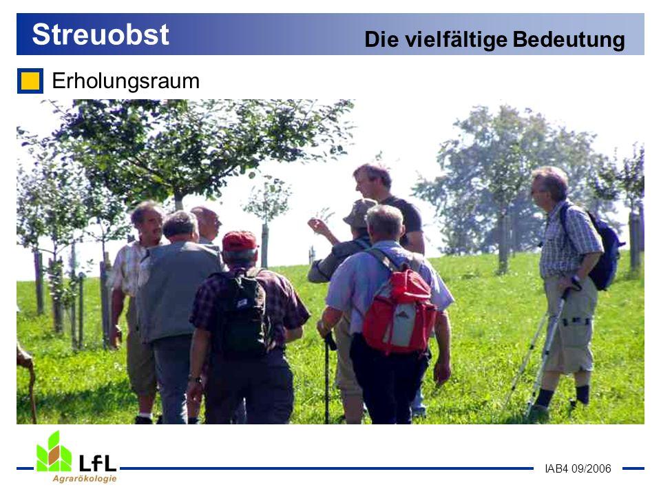 IAB4 09/2006 Erholungsraum Streuobst Die vielfältige Bedeutung
