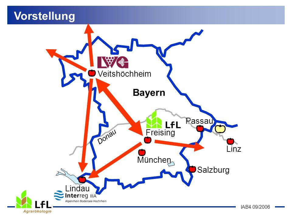 IAB4 09/2006 Organisation in Bayern Vorstellung Bayern Donau München Passau Linz Salzburg Veitshöchheim Lindau Freising