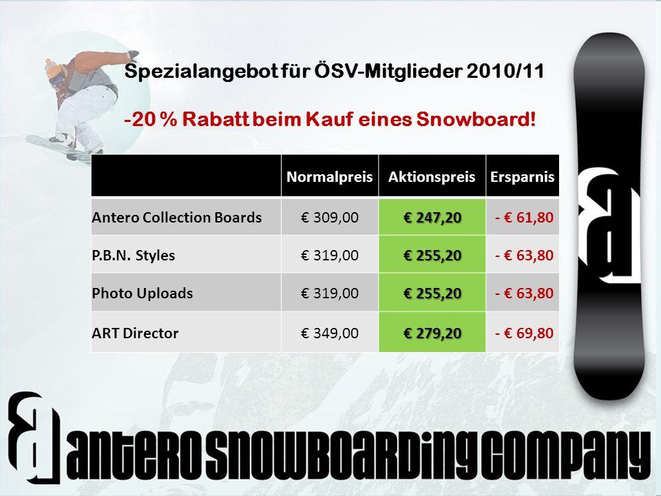 NormalpreisAktionspreisErsparnis Antero Collection Boards 309,00 247,20 247,20 - 61,80 P.B.N. Styles 319,00 255,20 255,20 - 63,80 Photo Uploads 319,00
