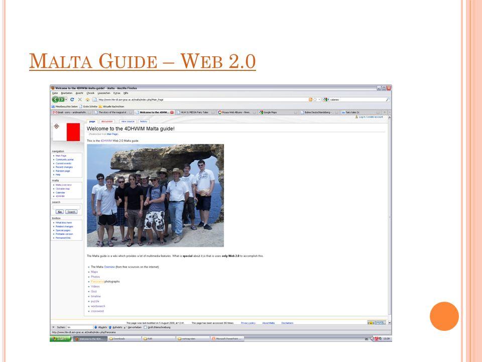 M ALTA G UIDE – W EB 2.0