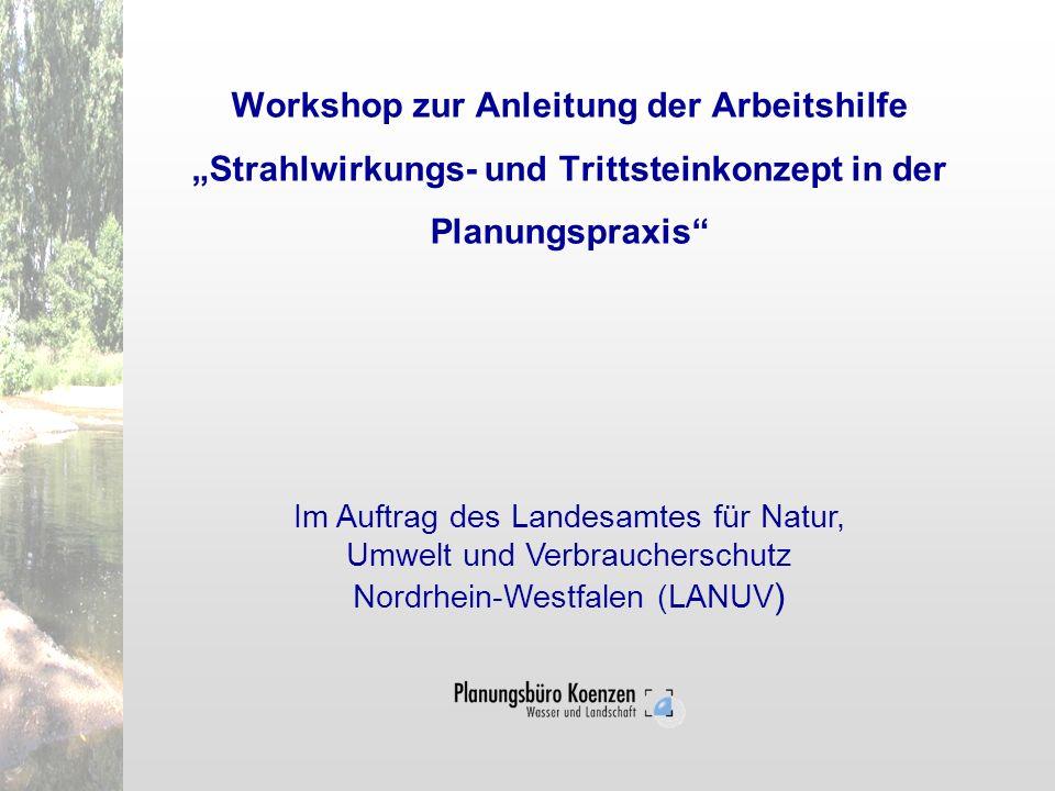 Workshop zur Anleitung der Arbeitshilfe Strahlwirkungs- und Trittsteinkonzept in der Planungspraxis Im Auftrag des Landesamtes für Natur, Umwelt und V