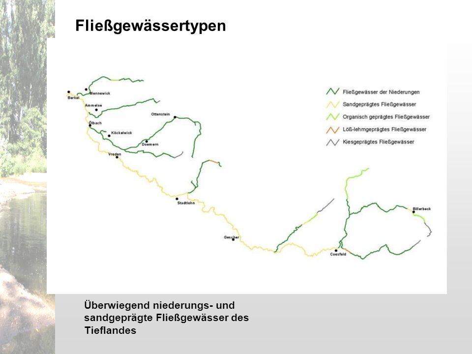 Überwiegend niederungs- und sandgeprägte Fließgewässer des Tieflandes Fließgewässertypen