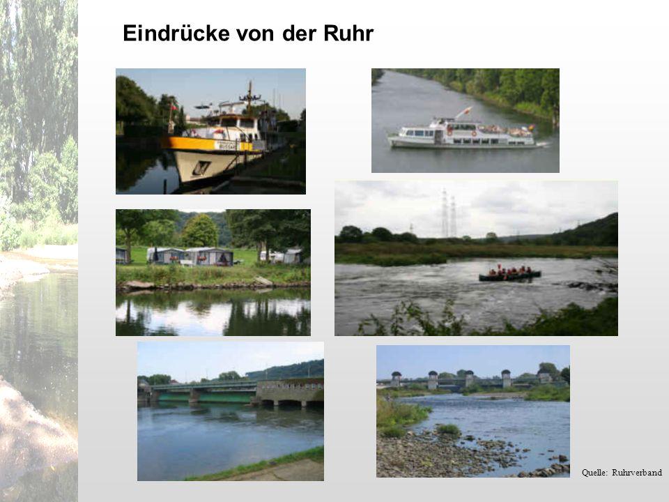 Eindrücke von der Ruhr Quelle: Ruhrverband