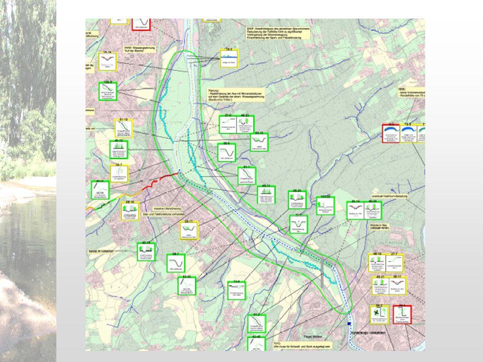 Schritt 1Schritt 2Schritt 3Schritt 4 (nur Berkel) Ergebnisse Vorstellung im Plenum Ruhr Berkel besondere Aspekte bei der Planung von HMWB -> v.a.