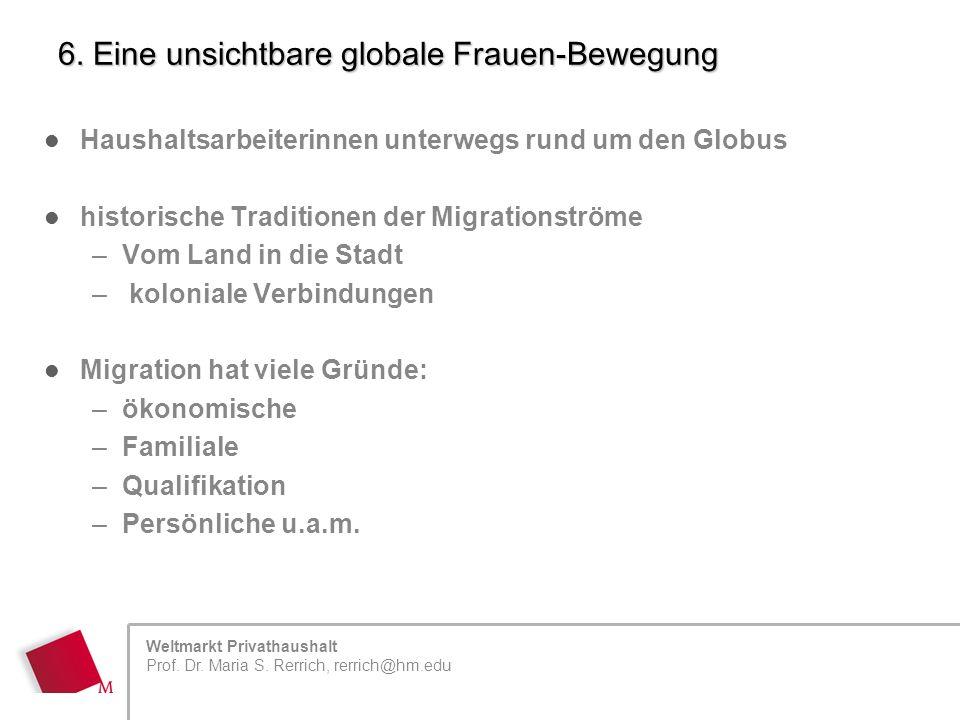 Weltmarkt Privathaushalt Prof. Dr. Maria S. Rerrich, rerrich@hm.edu 6.