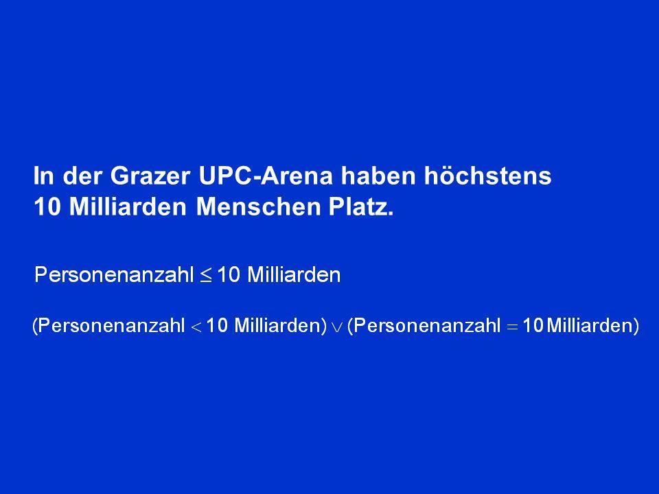 In der Grazer UPC-Arena haben höchstens 10 Milliarden Menschen Platz.