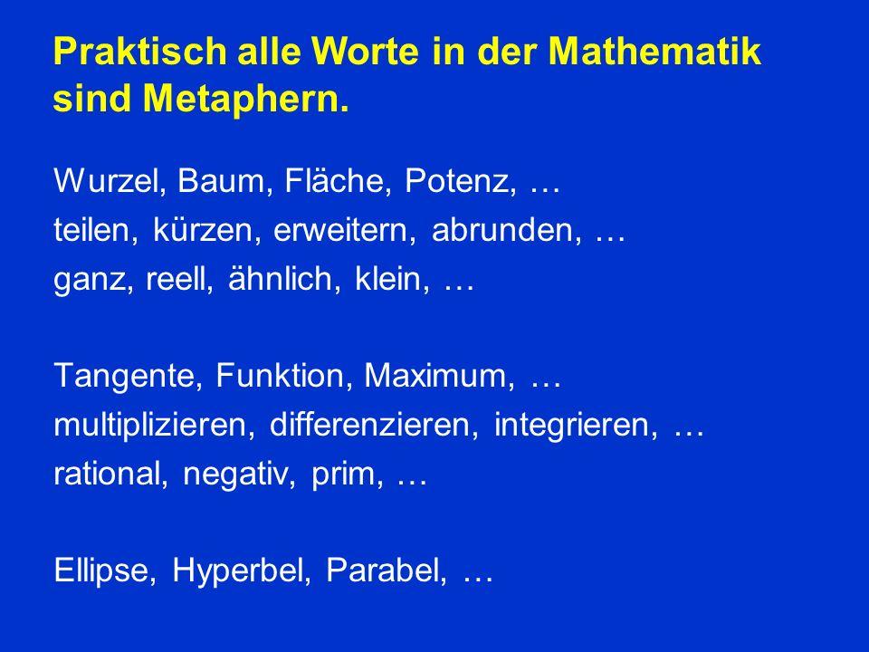 Praktisch alle Worte in der Mathematik sind Metaphern.