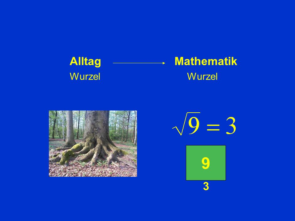 Ein Teil der Bedeutung wird vom Alltag in die Mathematik übertragen. Ein anderer Teil nicht.