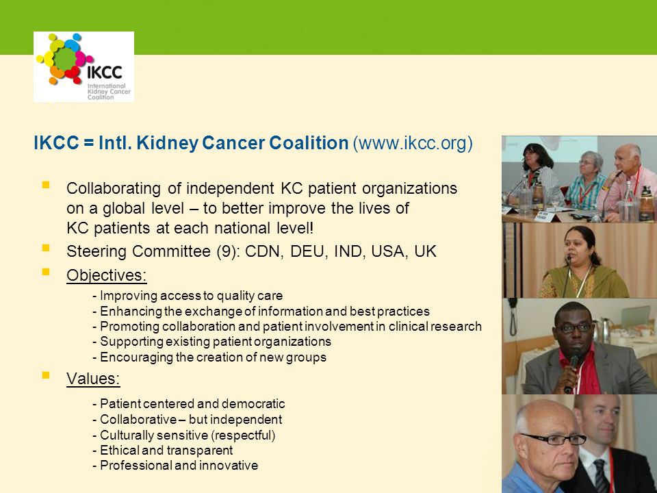 Hier steht Ihre Fußzeile Seite 16 Collaborating of independent KC patient organizations on a global level – to better improve the lives of KC patients at each national level.