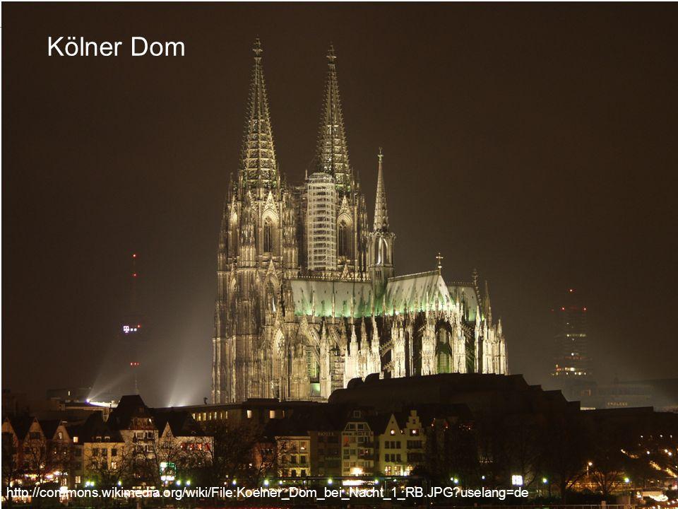 1.4 Religion in Staat und Gesellschaft Mannschaft 1 Tag http://commons.wikimedia.org/wiki/File:Koelner_Dom_bei_Nacht_1_RB.JPG?uselang=de Kölner Dom