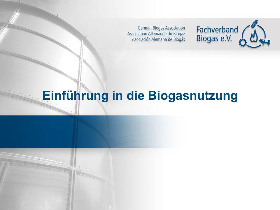 Einführung in die Biogasnutzung