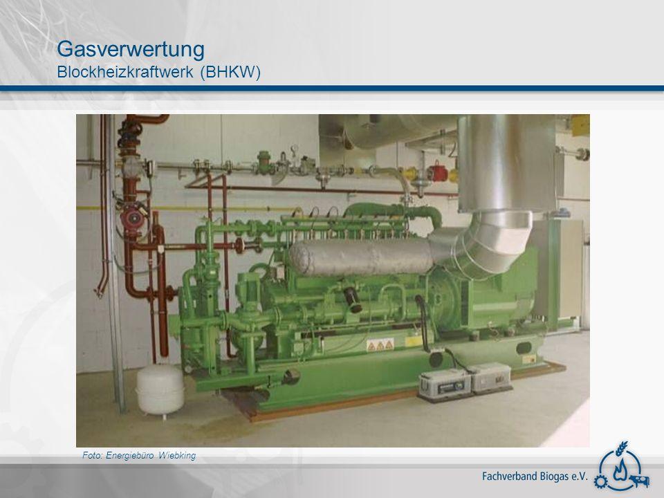 Foto: Energiebüro Wiebking Gasverwertung Blockheizkraftwerk (BHKW)