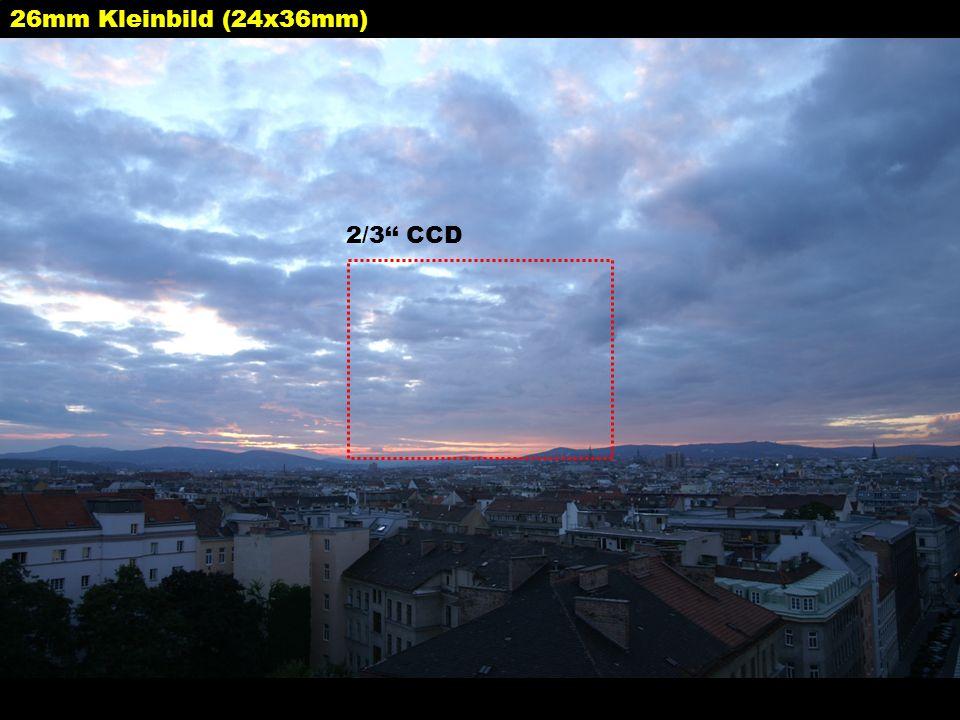 26mm Kleinbild (24x36mm) 2/3 CCD