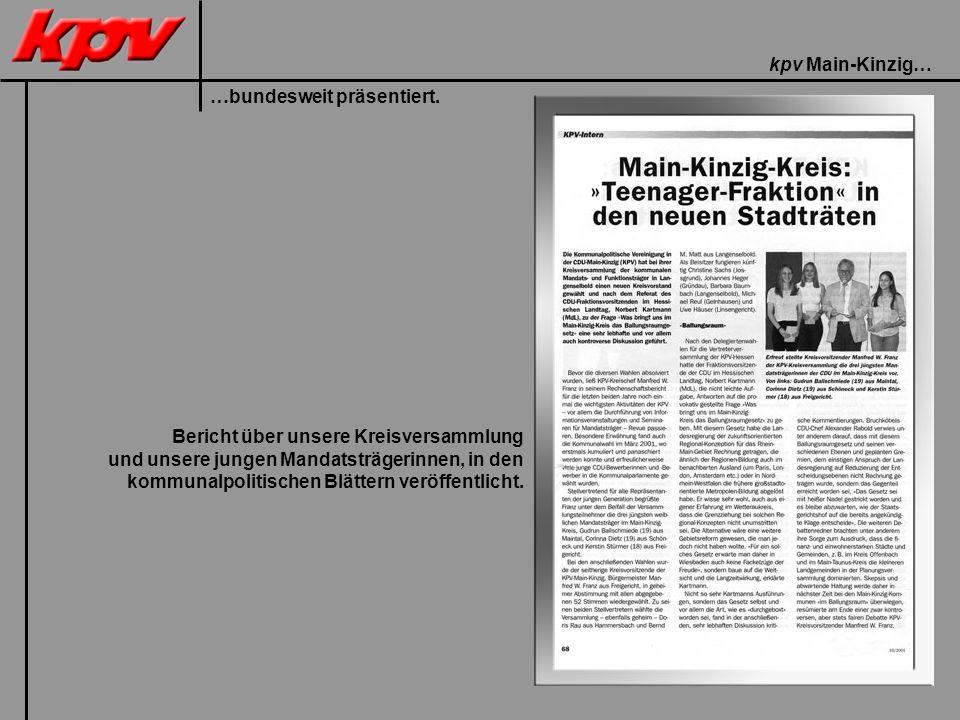 kpv Main-Kinzig… …bundesweit präsentiert.