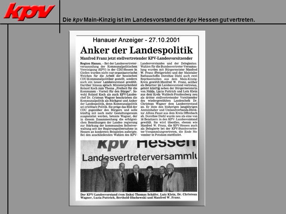 Die kpv Main-Kinzig ist im Landesvorstand der kpv Hessen gut vertreten.