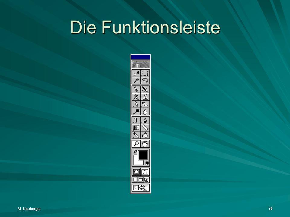 M. Neuberger 36 Die Funktionsleiste