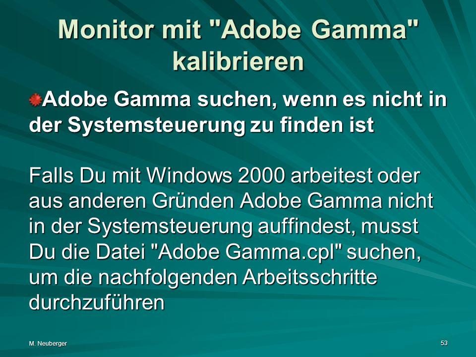 M. Neuberger 53 Monitor mit