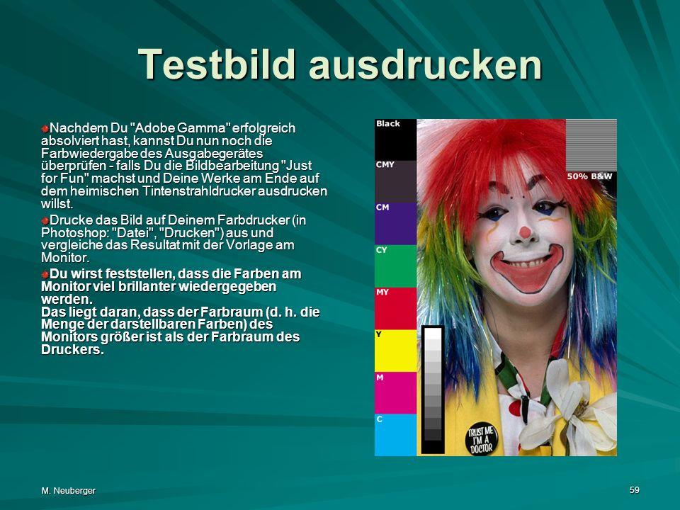 M. Neuberger 59 Testbild ausdrucken Nachdem Du