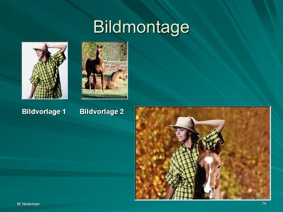 M. Neuberger 79 Bildmontage Bildvorlage 1 Bildvorlage 2