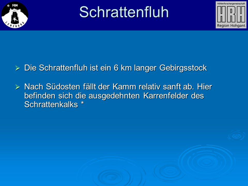 Die Schrattenfluh ist ein 6 km langer Gebirgsstock Die Schrattenfluh ist ein 6 km langer Gebirgsstock Nach Südosten fällt der Kamm relativ sanft ab. H