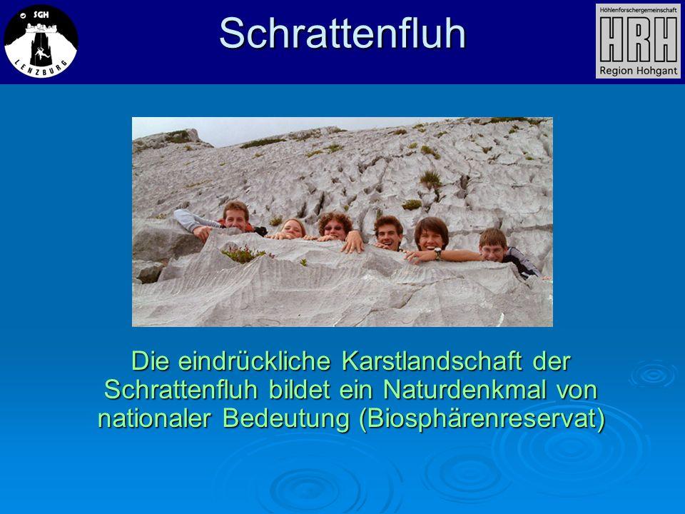 Die eindrückliche Karstlandschaft der Schrattenfluh bildet ein Naturdenkmal von nationaler Bedeutung (Biosphärenreservat) Schrattenfluh