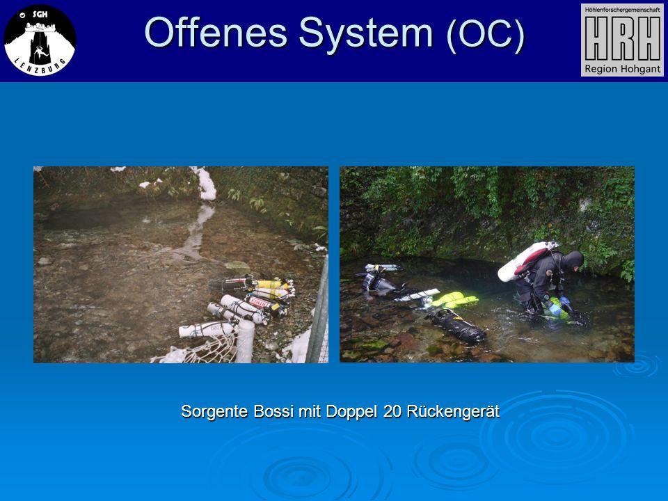 Offenes System (OC) Sorgente Bossi mit Doppel 20 Rückengerät