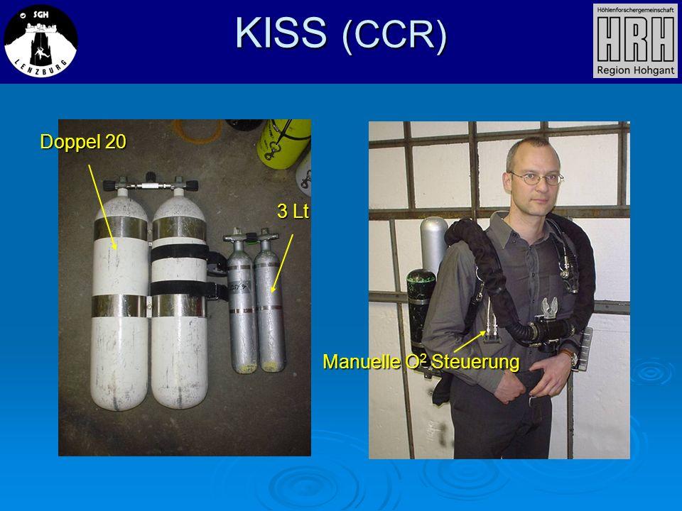 KISS (CCR) Doppel 20 3 Lt Manuelle O 2 Steuerung