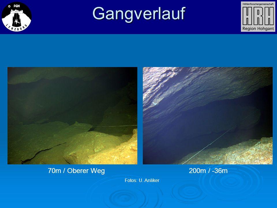 Gangverlauf 70m / Oberer Weg200m / -36m Fotos: U. Anliker