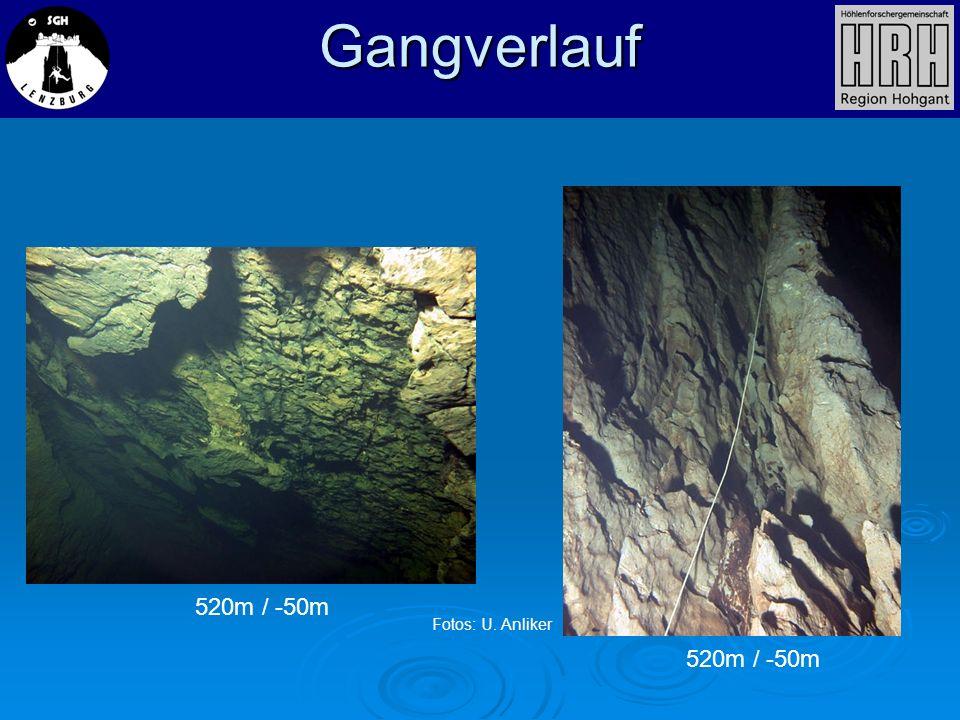 520m / -50m Gangverlauf Fotos: U. Anliker