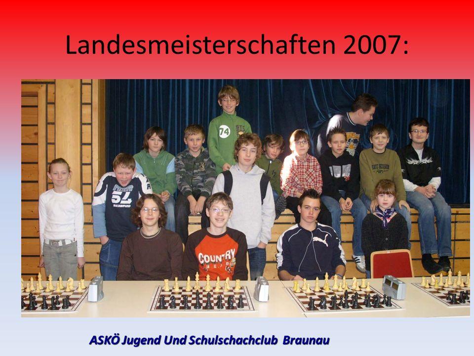 ASKÖ Jugend Und Schulschachclub Braunau Landesmeisterschaften 2007: