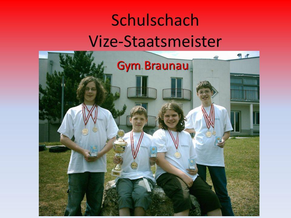 Schulschach Vize-Staatsmeister Gym Braunau