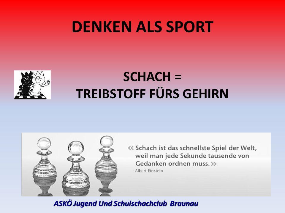 ASKÖ Jugend Und Schulschachclub Braunau DENKEN ALS SPORT SCHACH = TREIBSTOFF FÜRS GEHIRN