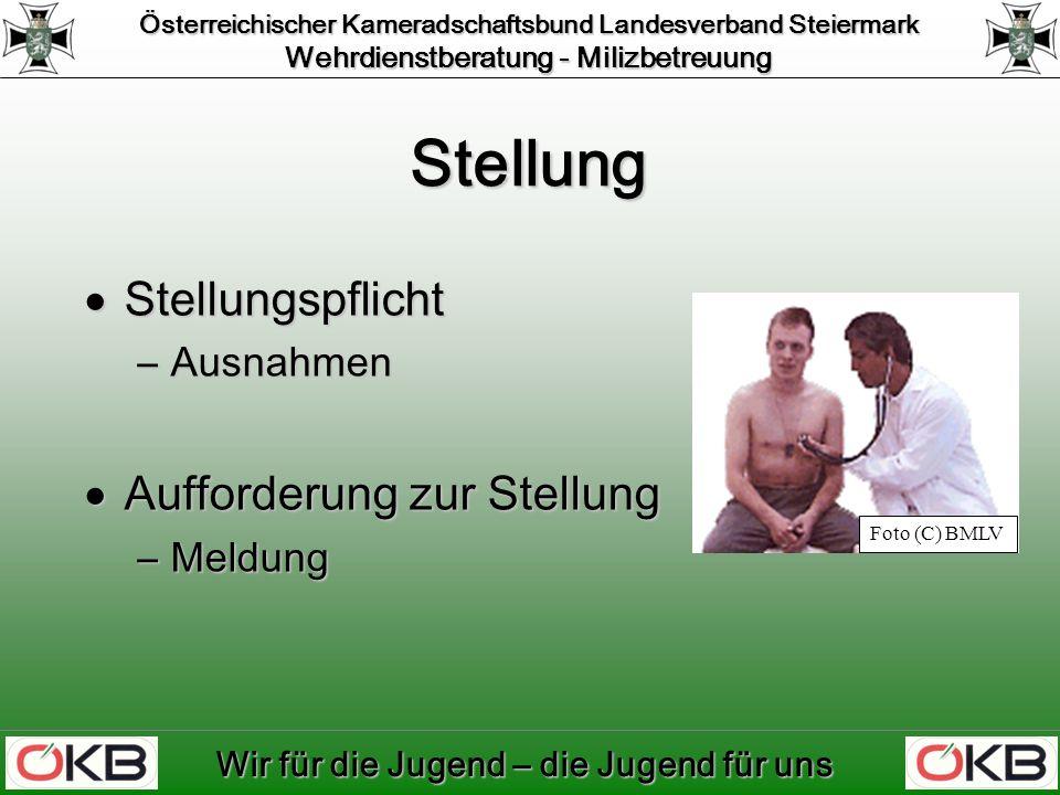 Österreichischer Kameradschaftsbund Landesverband Steiermark Wehrdienstberatung - Milizbetreuung Wir für die Jugend – die Jugend für uns Dokumente Identität Identität Gesundheit Gesundheit Fähigkeiten Fähigkeiten