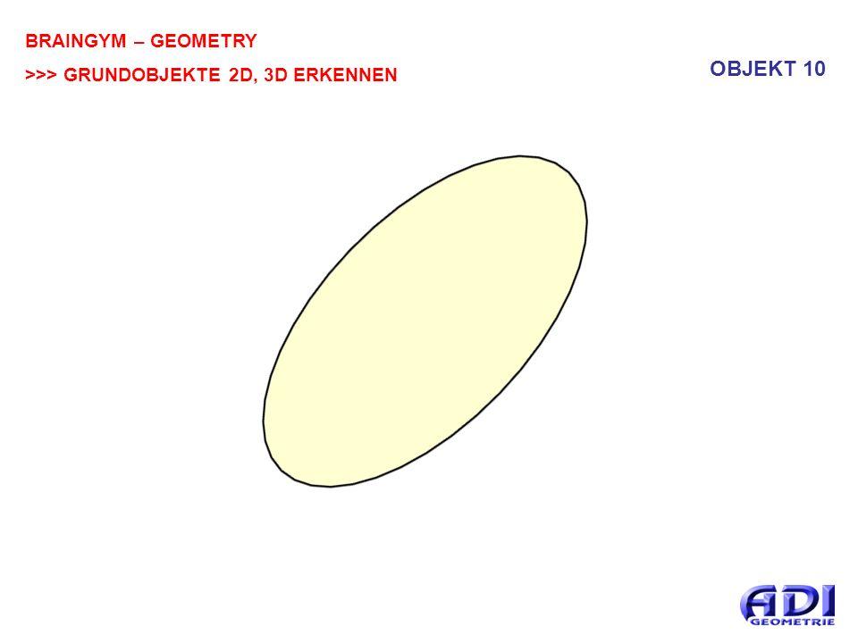 BRAINGYM – GEOMETRY >>> GRUNDOBJEKTE 2D, 3D ERKENNEN OBJEKT 10