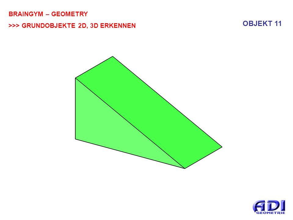 BRAINGYM – GEOMETRY >>> GRUNDOBJEKTE 2D, 3D ERKENNEN OBJEKT 11
