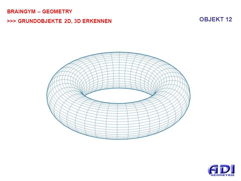 BRAINGYM – GEOMETRY >>> GRUNDOBJEKTE 2D, 3D ERKENNEN OBJEKT 12