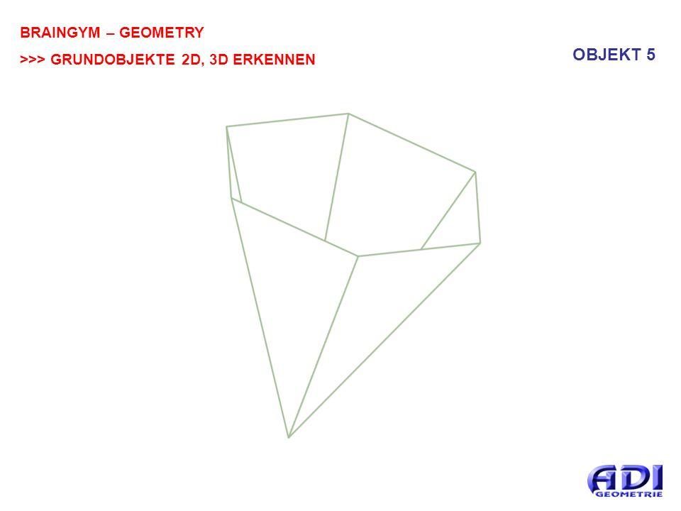 BRAINGYM – GEOMETRY >>> GRUNDOBJEKTE 2D, 3D ERKENNEN OBJEKT 6